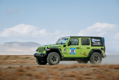 The Jeep® Wrangler sweeps the podium at the 6th Rebelle Rally and is the first electrified vehicle to win the overall competition.