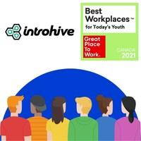 Introhive被加拿大最佳工作场所评为2021年最佳工作场所™当代年轻人