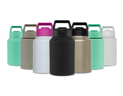 Hydration taken to the next level with the Stainless Steel and Glass HydroJugs.