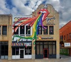 Rainbow Vomit Creates Epic Rolling Stones Mural for Upcoming Cotton Bowl Concert