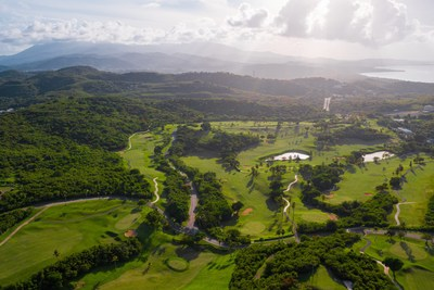This picture of El Conquistador Resort Golf Course illuminates the lush tropical terrain and abundant natural beauty found throughout Puerto Rico. The Island is a safe place to vacation, with unforgettable activities to experience.