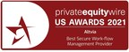 """Altvia Wins Private Equity Wire's """"Best Secure Workflow Management Provider"""""""