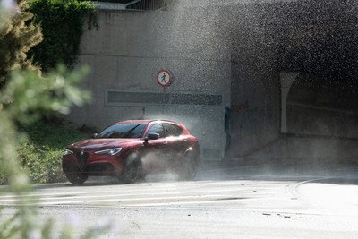 """Alfa Romeo presents the """"Near Life Experience"""" global advertising campaign at the 2021 Formula 1 United States Grand Prix on October 24, 2021."""