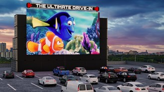 UOE® Completes Construction of Massive New Drive-In LED Screen