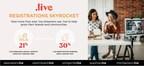 "New TrueName®  "".live"" Registrations Skyrocket"