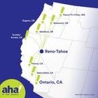 New airline - aha! - inaugurates Reno-Tahoe hub with nonstop flight to Pasco/Tri-Cities, Wash.