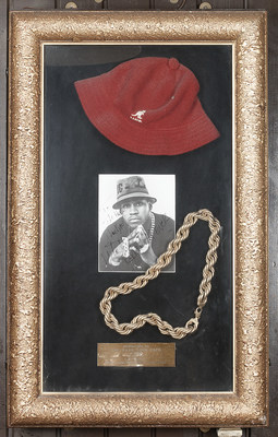 LL Cool J items from Hard Rock's memorabilia collection.