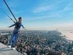 哈德逊广场的边缘展示了城市攀登,终极摩天大楼冒险