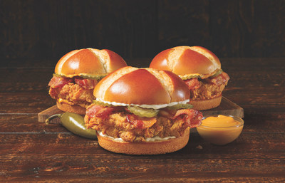 Church's New Texas-Cut Bacon Chicken Sandwiches, available in Original, Spicy and Smoky Honey-Q.