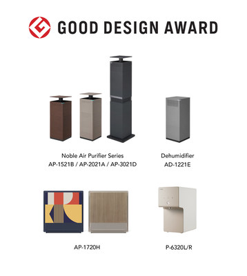 Coway Honored with Four Accolades at Good Design Award