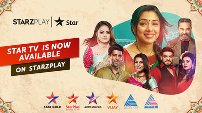 STARZPLAY debuts in the South Asian entertainment segment, inks deal with STAR TV network to feature six Indian entertainment channels