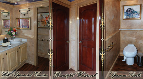 The Versailles Luxury Restroom Trailer by Callahead Corp.
