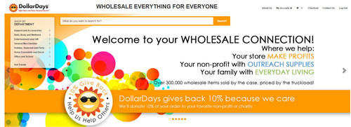 DollarDays.com gives 10% Back to Non-profits nominated by you during March.