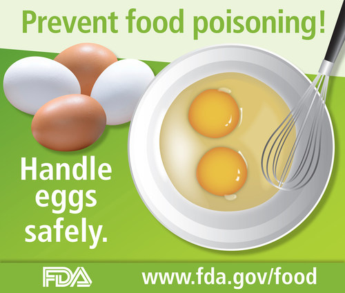 Prevent food poisoning! Handle eggs safely. www.fda.gov/food
