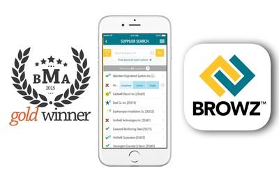 BROWZ zum Gewinner der angesehenen 2015 Spring Awards - Best App Design ernannt