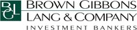 Brown Gibbons Lang & Company Corporate Logo (PRNewsFoto/Brown Gibbons Lang & Company) (PRNewsFoto/Brown Gibbons Lang & Company)