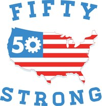 50 Strong, a leading manufacturer of innovative, high-quality American-made bike accessories and water bottles. (PRNewsFoto/50 Strong) (PRNewsFoto/50 Strong)