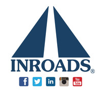 INROADS logo and social media.  www.INROADS.org . (PRNewsFoto/INROADS Inc.) (PRNewsFoto/INROADS INC.)