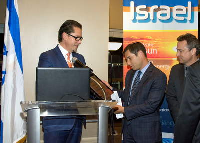 Remi Eriksen, President & CEO DNV GL; Binyamin Zomer, Noble Energy Israel Country Manager; and Scott Childres, Noble Energy Vice President, Eastern Mediterranean