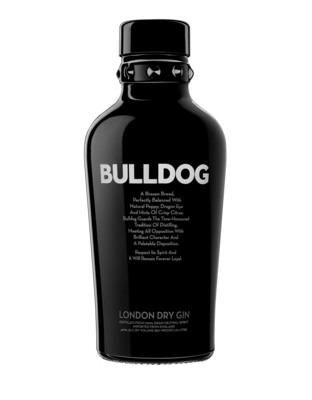 Multi-award winning BULLDOG is distilled in traditional copper pot stills, infused with a melange of 12 botanicals from eight countries, and is handcrafted in England. BULLDOG is 40% abv and comes in an iconic deep charcoal grey coloured bottle with broad shoulders and an iconic studded collar. BULLDOG gin is considered to be one of the fastest growing super-premium gins in the world. (PRNewsFoto/BULLDOG London Dry Gin) (PRNewsFoto/BULLDOG LONDON DRY GIN)