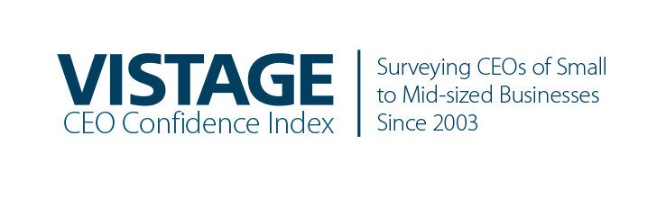 Vistage CEO Confidence Index | Surveying CEOs of Small to Mid-sized Business Since 2003 (PRNewsfoto/Vistage Worldwide, Inc.)