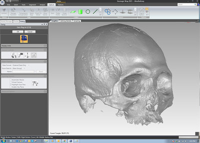 Geomagic Wrap(R) software is used to support the 3D scanning