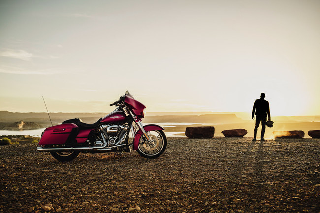 Equipped with the new Milwaukee-Eight engine and new front and rear suspension, Harley-Davidson's 2017 Touring motorcycles like this Street Glide Special model are the company's most powerful, most responsive and most comfortable Touring motorcycles ever.