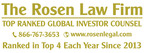 CAN BREAKING NEWS: ROSEN, LEADING AND LONGSTANDING INVESTOR...