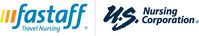 Fastaff, LLC and U.S. Nursing Corporation logo (PRNewsFoto/Fastaff Travel Nursing)
