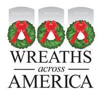 Visit www.wreathsacrossamerica.org and click DONATE to sponsor a wreath for Arlington National Cemetery. (PRNewsFoto/Wreaths Across America)