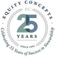 The firm has released a new 25th anniversary logo. (PRNewsFoto/Equity Concepts)