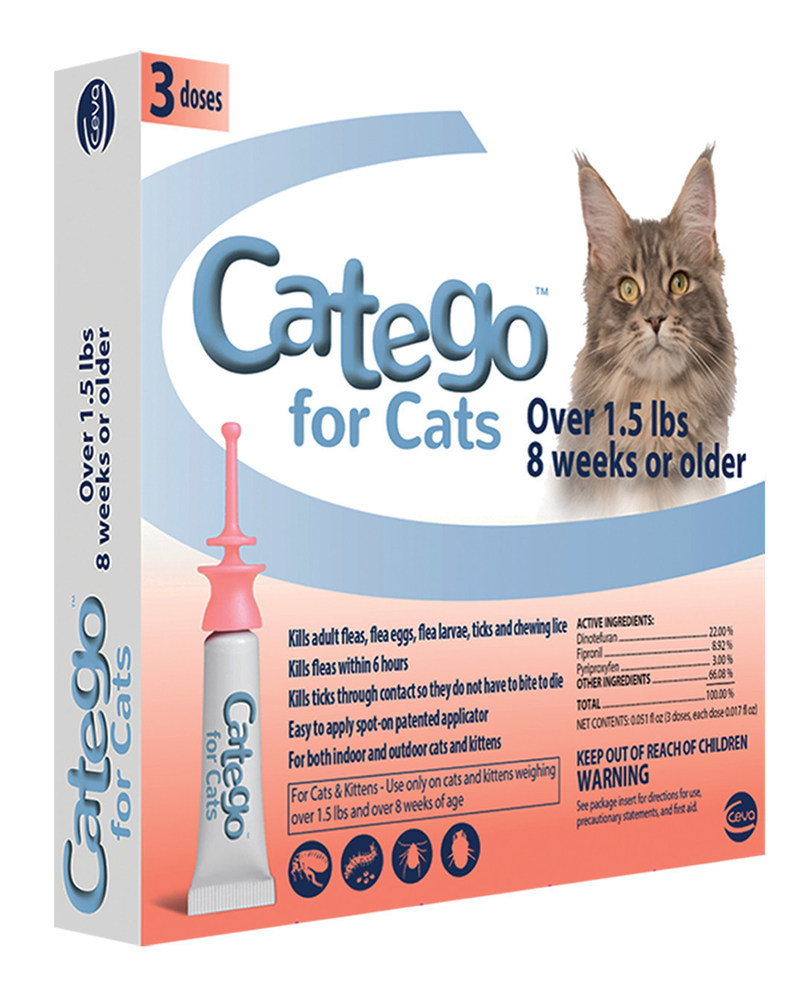 Catego(TM), the first fast-acting flea and tick topical parasiticide made specifically for cats. (PRNewsFoto/Ceva Animal Health)