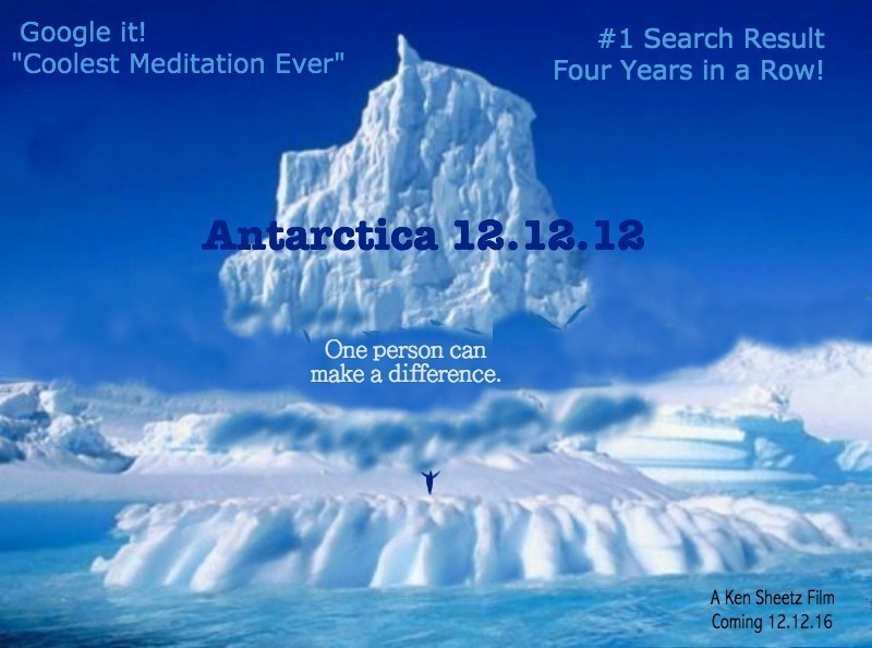 """How does the universe communicate from subatomic particles, wavelengths, superstrings, to stars and every being? And how do individuals communicate back to see their dreams manifest? The heartening assumption of, """"The Coolest Meditation Ever: Antarctica 12.12.12,"""" is that every one of us makes waves in the field of consciousness that are felt for eternity and experienced in our lifetimes. There he planted 24 fundamental motivational shifts into the pristine energy field of ice and snow. We are the quantums weaving this intent across the hearts of mankind powering up planetary healing for us all."""