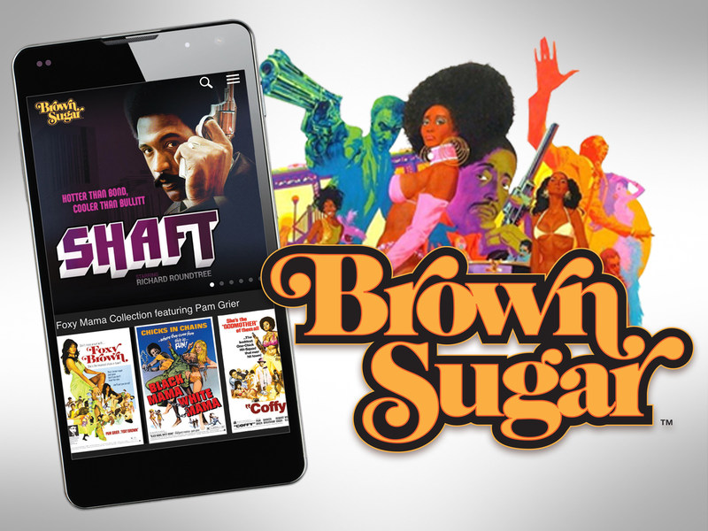 The biggest collection of the baddest African-American movies of all-time have a new subscription-video-on-demand streaming home with the launch of Brown Sugar. Brown Sugar is now available for mobile phones and tablets in the Google Play Store and iTunes App Store and for computers at www.BrownSugar.com. Brown Sugar features an extensive library of iconic black movies, all un-edited and commercial-free as they were originally seen in theaters. The Mack, Foxy Brown, Shaft, Super Fly, Dolemite, Cotton Comes to Harlem, Uptown Saturday Night, Cooley High, Three The Hard Way, Coffy, Black Caesar and more - Brown Sugar has them all. (PRNewsFoto/Bounce TV)