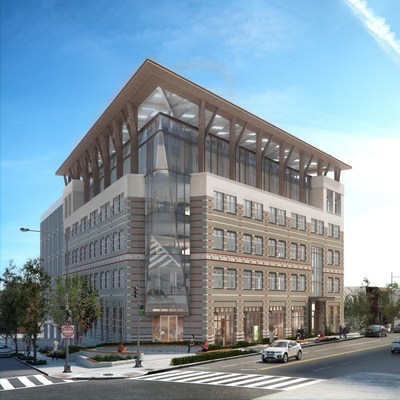 Rendering of the approved renovation of the American Geophysical Union (AGU) headquarters.