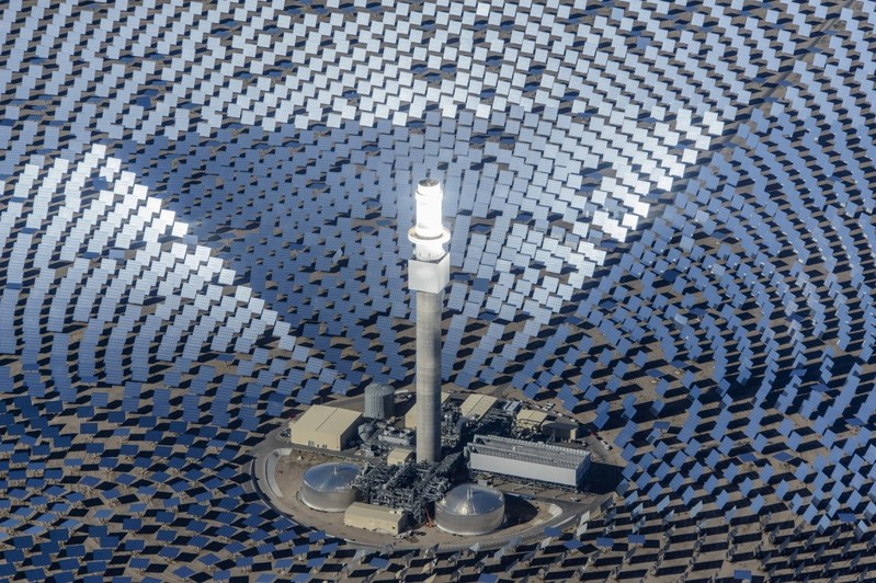 SolarReserve's Crescent Dunes Solar Energy Facility, in commercial operation in Nevada USA, delivers both 110 megawatts of power plus 1,100 megawatt-hours of energy storage