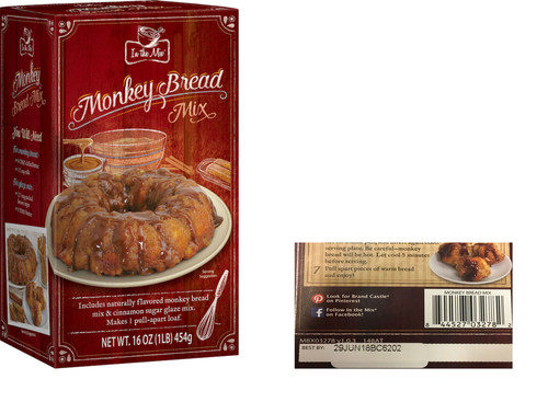 Recall notice for In the Mix(R) Monkey Bread Mix.