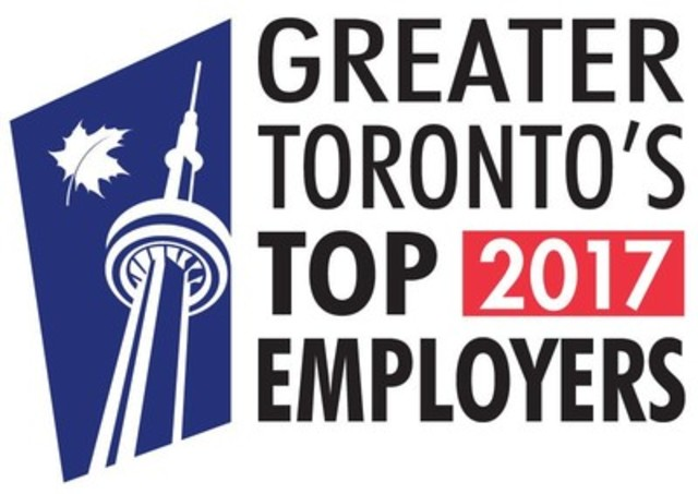 Greater Toronto's top 2017 employers (CNW Group/Mediacorp Canada Inc.)