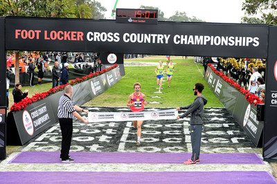 Reed Brown of South Lake, Texas captured first place in the boys race at the 38th Annual Foot Locker Cross Country Championships (FLCCC) National Finals at Morley Field, Balboa Park in San Diego on Dec.10, 2016
