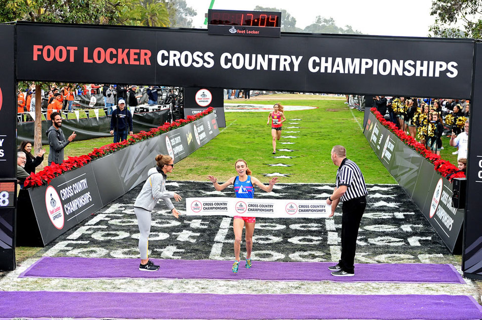 Claudia Lane of Malibu, Calif. captured first place in the girls race at the 38th Annual Foot Locker Cross Country Championships (FLCCC) National Finals at Morley Field, Balboa Park in San Diego on Dec.10, 2016.