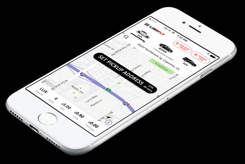 Limofly ride sharing app.