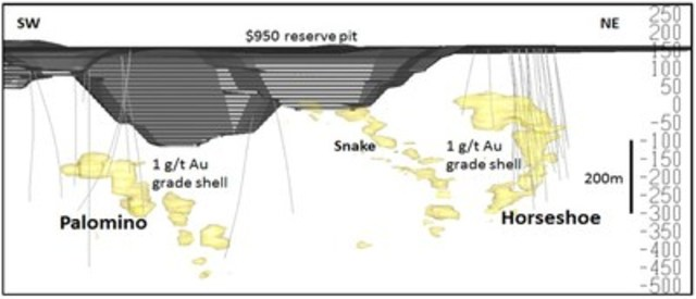 Figure 2 – Haile Section – Looking Northwest (CNW Group/OceanaGold Corporation)