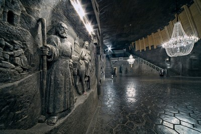 The biggest underground chapel in the world, chisseled in rock salt, Wieliczka Salt Mine, photo by Ryszard Tatomir (PRNewsFoto/Wieliczka Salt Mine)