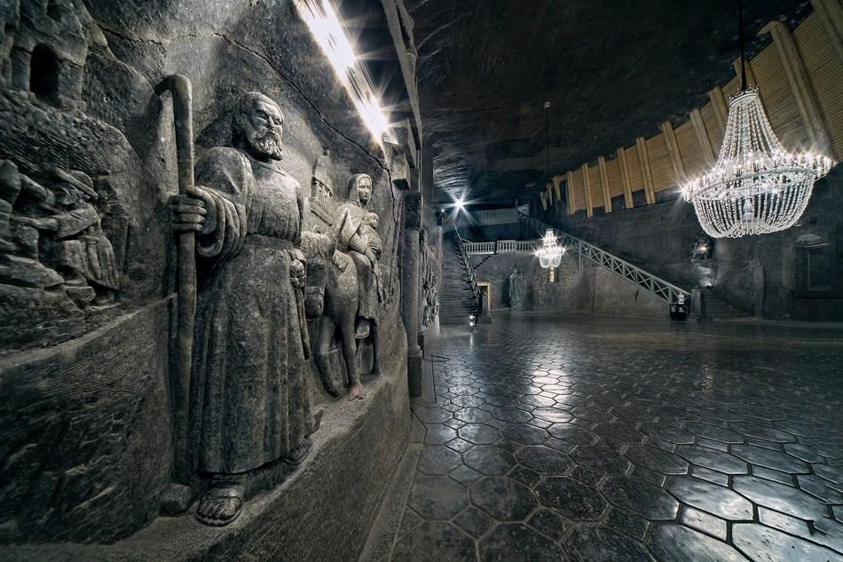 The biggest underground chapel in the world, chisseled in rock salt, Wieliczka Salt Mine, photo by Ryszard Tatomir (PRNewsFoto/Wieliczka Salt Mine)