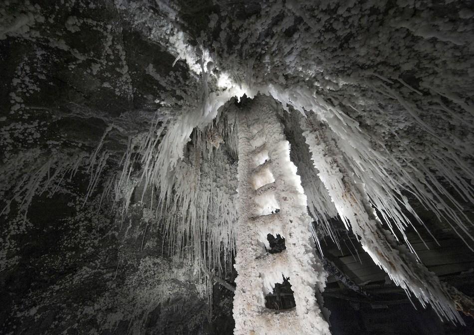 Secondary salt crystalization (art of nature) in the Wieliczka Salt Mine, photo by Bogumil Kruzel (PRNewsFoto/Wieliczka Salt Mine)