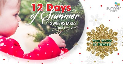 'Tis the season! Take home dozens of newborn must-haves this holiday. Enter for the chance to win over $3,000 in the Summer Infant 12 Days of Summer Sweepstakes.