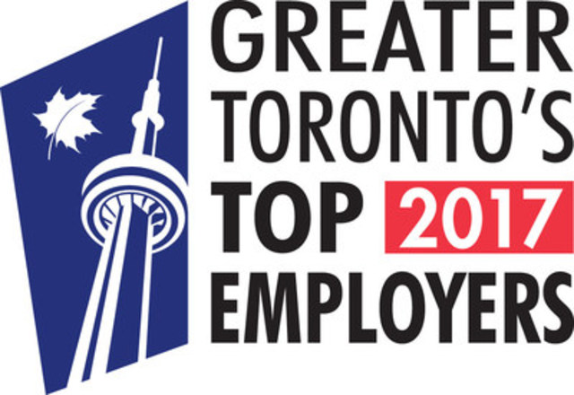 Corby Spirit and Wine Ltd. is proud to announce that for the third year in a row, it has been recognized as one of Greater Toronto's Top 100 Employers of 2017. (CNW Group/Corby Spirit and Wine Communications)