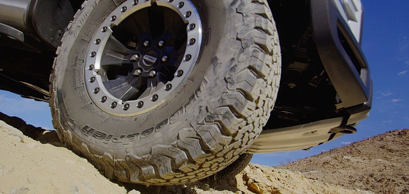 The BFGoodrich All-Terrain T/A KO2 provides the toughness, traction and treadlife for the 2017 Ford F-150 Raptor
