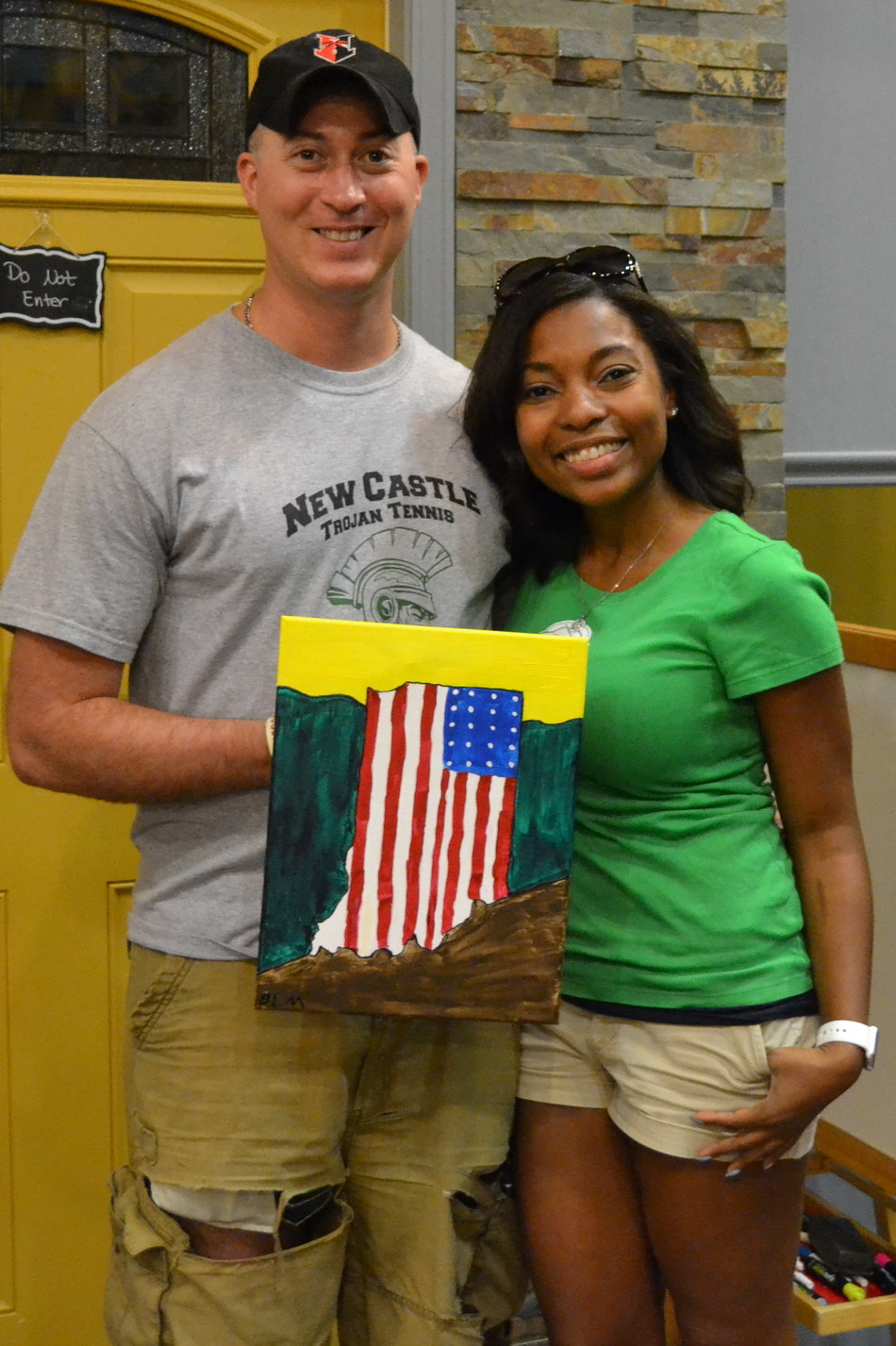 During the Paint with Your Mate Date Night with Wounded Warrior Project, participants spent the evening learning to paint unique masterpieces with step-by-step guidance from an experienced art instructor.