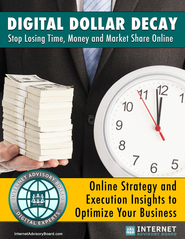 A Digital Advisory Board that aligns with the strategic goals of the organization can save time, money and increase digital performance. Take the free Digital Status Assessment and get a free copy of Digital Dollar Decay.